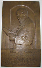 Reverend Newton Mann bas-relief plaque